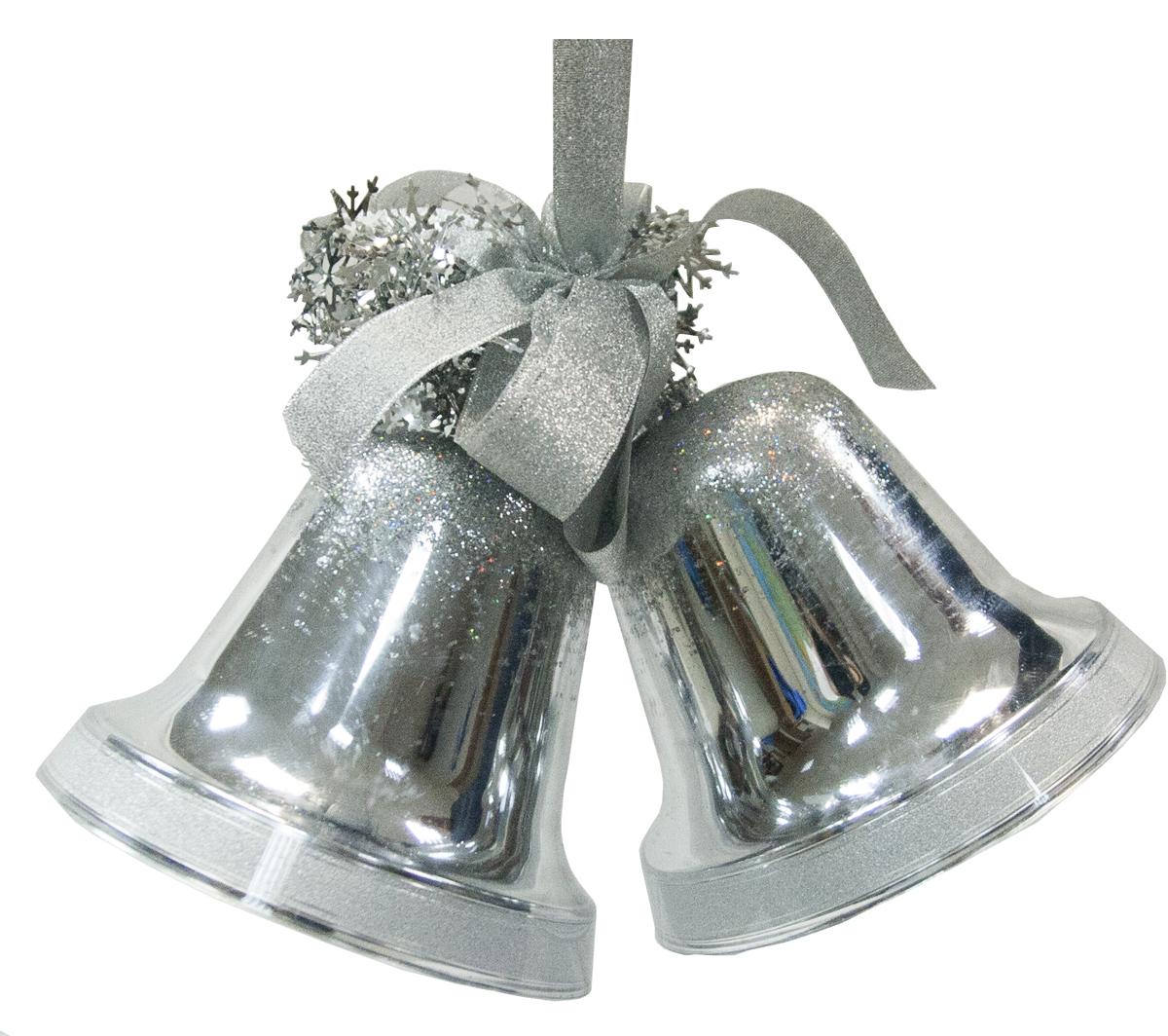 Украшение подвесное Weiste Двойные колокольчики, цвет: серебряный5598Украшение подвесное Двойные колокольчики (2 х 160мм, в комп-и с доп.украш.) цвет: сереб Weiste