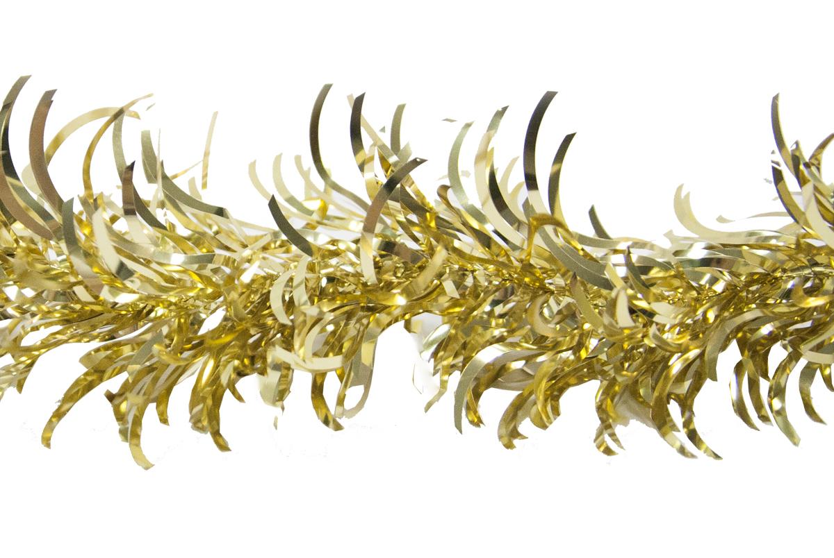 Гирлянда новогодняя Weiste Перо, цвет: золотой, длина 2 м6042Гирлянда ПЕРО 10смх2м, цвет золотой Weiste