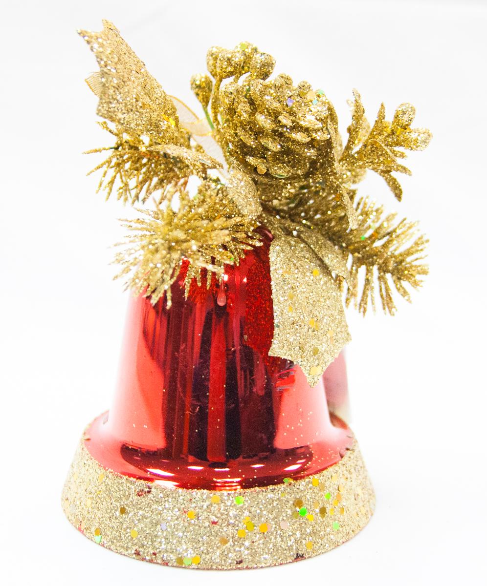 Подвес декоративный Lovemark Колокол, цвет: золотой, красный, 12 смCF12114RGПодвес КОЛОКОЛ с декором 12см, цвет золото/красный Lovemark