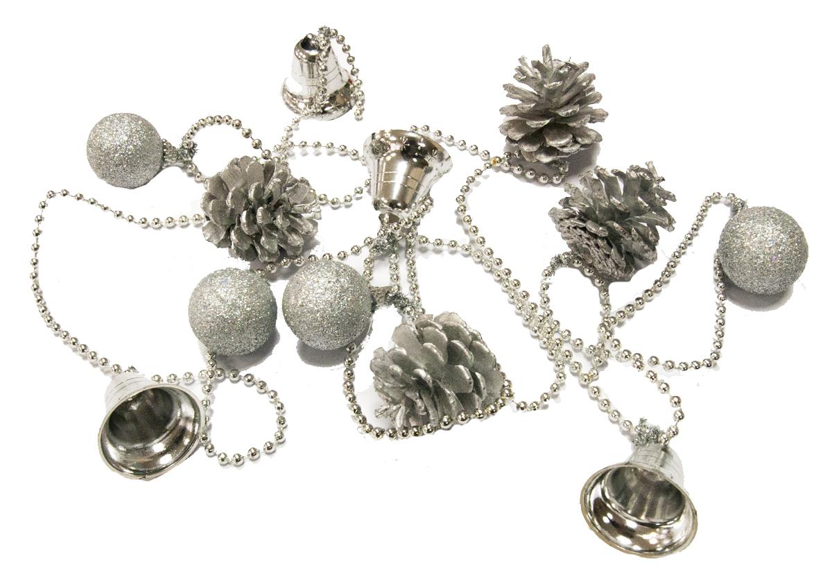 Гирлянда новогодняя Lovemark Шишки. Шарики, цвет: серебряный, длина 2 мHZ4-00023SГирлянда Шишки/Шарики 2м серебро Lovemark