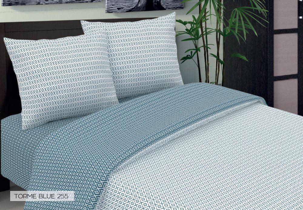 Комплект белья Seta Torme, 2-спальный, наволочки 70x70, цвет: голубой015034255Бязевое бельё выдерживает «бесконечное» число стирок, к тому же стоит сравнительно недорого. Лучшее соотношение цены, качества ткани и современных дизайнов. Всегда хит сезона и лидер продаж. Изготовлено из 100 % хлопка.