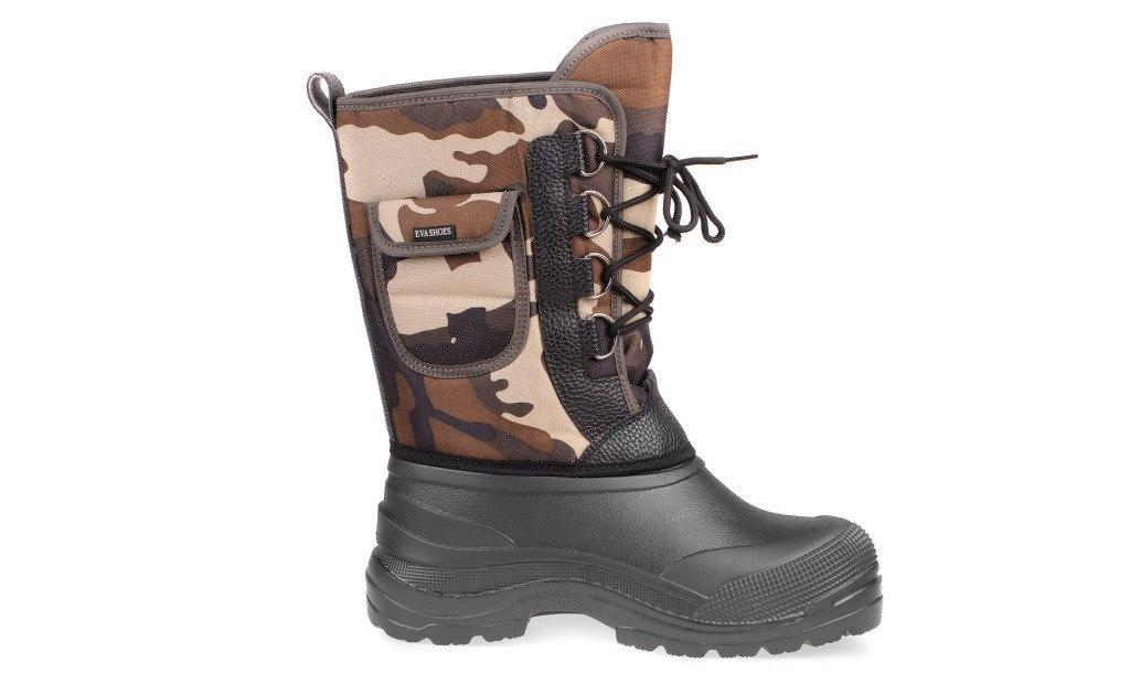 Сапоги зимние EVA Shoes Аляска (-40), цвет: черный, камуфляж. Размер 41