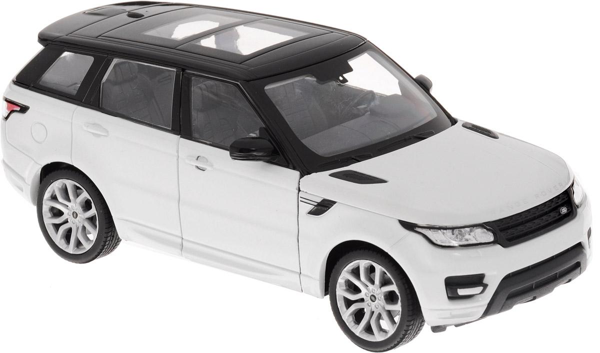 Welly Модель автомобиля Range Rover Sport24059Модель автомобиля Welly Range Rover Sport - отличный подарок как ребенку, так и взрослому коллекционеру. Благодаря броской внешности, а также великолепной точности, с которой создатели этой модели масштабом 1:24 передали внешний вид настоящего автомобиля, модель станет подлинным украшением любой коллекции авто. Машина будет долго служить своему владельцу благодаря металлическому корпусу с элементами из пластика. Передние дверцы машины открываются, капот поднимается, передние колеса вращаются вслед за поворотом руля. Шины обеспечивают отличное сцепление с любой поверхностью пола. Модель автомобиля Welly Range Rover Sport обязательно понравится вашему ребенку и станет достойным экспонатом любой коллекции.