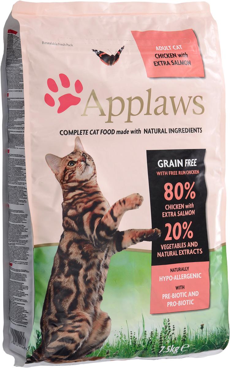 Корм сухой Applaws для кошек, беззерновой, с курицей, лососем и овощами, 7,5 кг24401Беззерновой корм для кошек Applaws изготовлен по особым рецептам, разработанным диетологами института Великобритании. Правильная диета очень важна для питомцев, ведь она меняется в зависимости от жизненного цикла. Также полнорационный корм должен включать в себя необходимое количество витаминов и минералов. В рецепте сухого корма Applaws учтен не только перечень наиболее необходимых минералов и витаминов, но и их строгий баланс. Так как сухой корм изготавливается только из натуральных качественных ингредиентов, крокеты привлекут внимание любого, даже очень привередливого питомца. Состав: дегидрированное мясо цыпленка минимум 47%, дегидрированное филе лосося минимум 19%, молодой картофель минимум 4%, жир домашней птицы минимум 8% (источник Омега 6), подлива из мяса птицы, приготовленной в собственном соку минимум 4%, лососевый жир (источник Омега 3), свекла минимум 3%, яичный порошок минимум 3%, пивные дрожжи, клетчатка,...