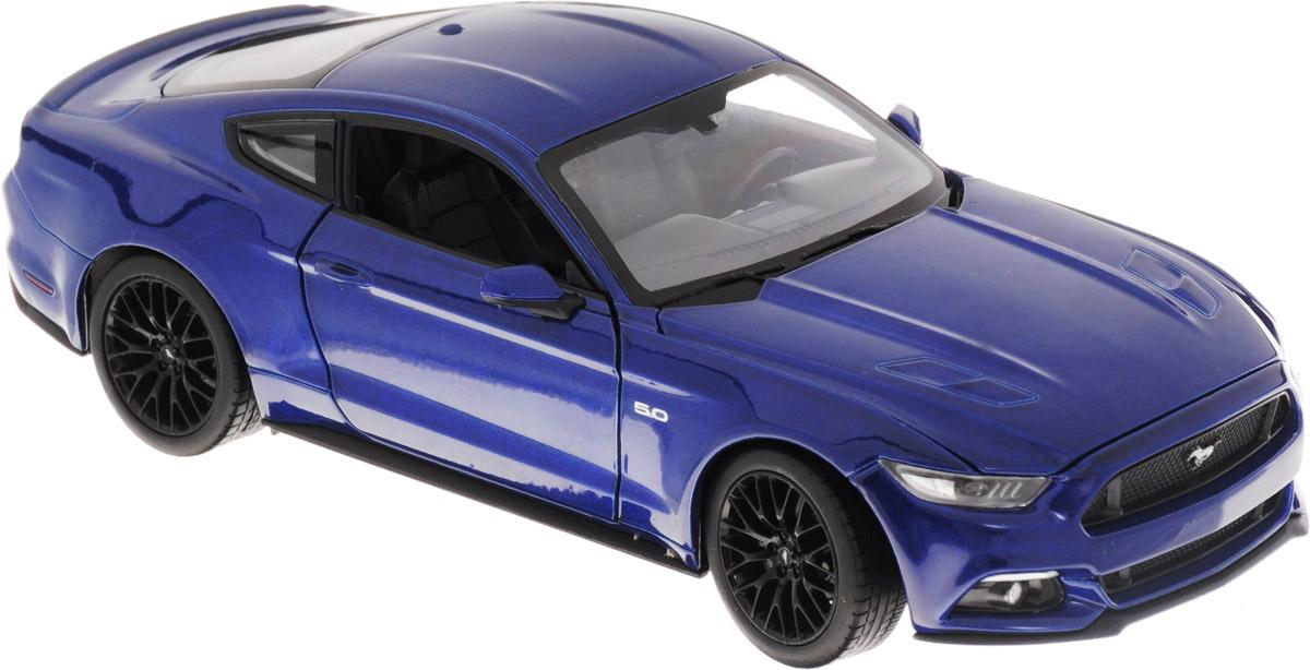 Welly Модель автомобиля Ford Mustang GT24062Модель автомобиля Welly Ford Mustang GT - отличный подарок как ребенку, так и взрослому коллекционеру. Благодаря броской внешности, а также великолепной точности, с которой создатели этой модели масштабом 1:24 передали внешний вид настоящего автомобиля, модель станет подлинным украшением любой коллекции авто. Машина будет долго служить своему владельцу благодаря металлическому корпусу с элементами из пластика. Дверцы машины открываются, капот поднимается, передние колеса вращаются вслед за поворотом руля. Шины обеспечивают отличное сцепление с любой поверхностью пола. Модель автомобиля Welly Ford Mustang GT обязательно понравится вашему ребенку и станет достойным экспонатом любой коллекции.