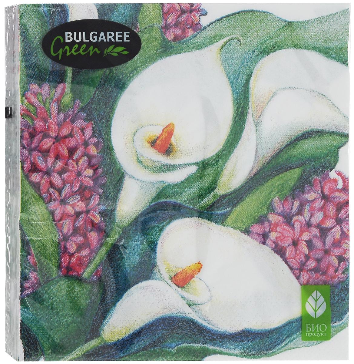 Салфетки бумажные Bulgaree Green Каллы, двухслойные, 24 х 24 см, 50 шт1000210_КаллыДекоративные двухслойные салфетки Bulgaree Green Каллы выполнены из 100% целлюлозы европейского качества и оформлены ярким рисунком. Изделия станут отличным дополнением любого праздничного стола. Они отличаются необычной мягкостью, прочностью и оригинальностью. Размер салфеток в развернутом виде: 24 х 24 см.