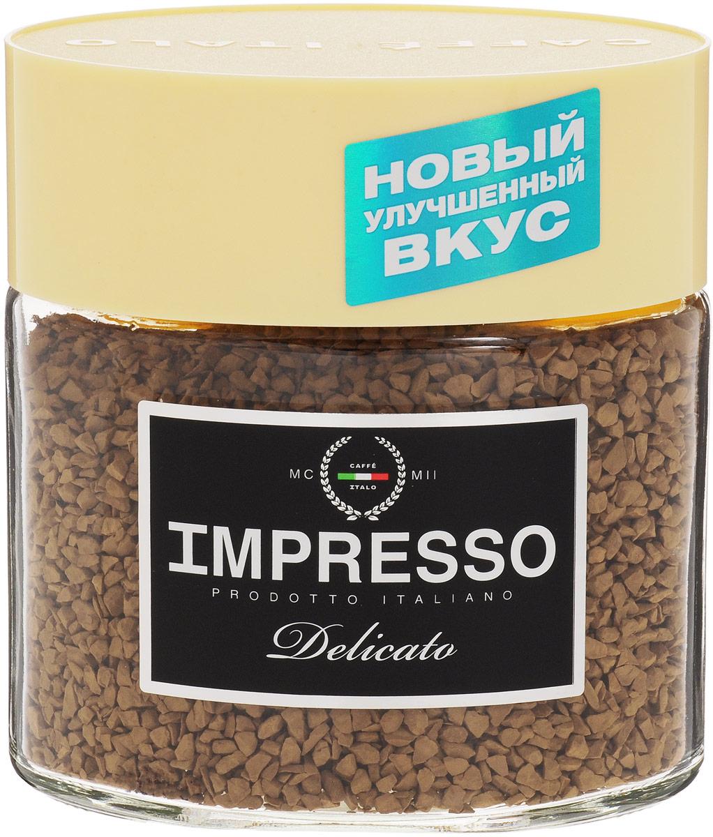 Impresso Delicato кофе растворимый, 100 г (банка)8057288870025Impresso Delicato - настоящий итальянский кофе, который восхищает полнотой вкуса и быстротой приготовления. В купаж кофе вошли сорта арабики из Бразилии и Ямайки с деликатным насыщенным вкусом. Уважаемые клиенты! Обращаем ваше внимание на то, что упаковка может иметь несколько видов дизайна. Поставка осуществляется в зависимости от наличия на складе.