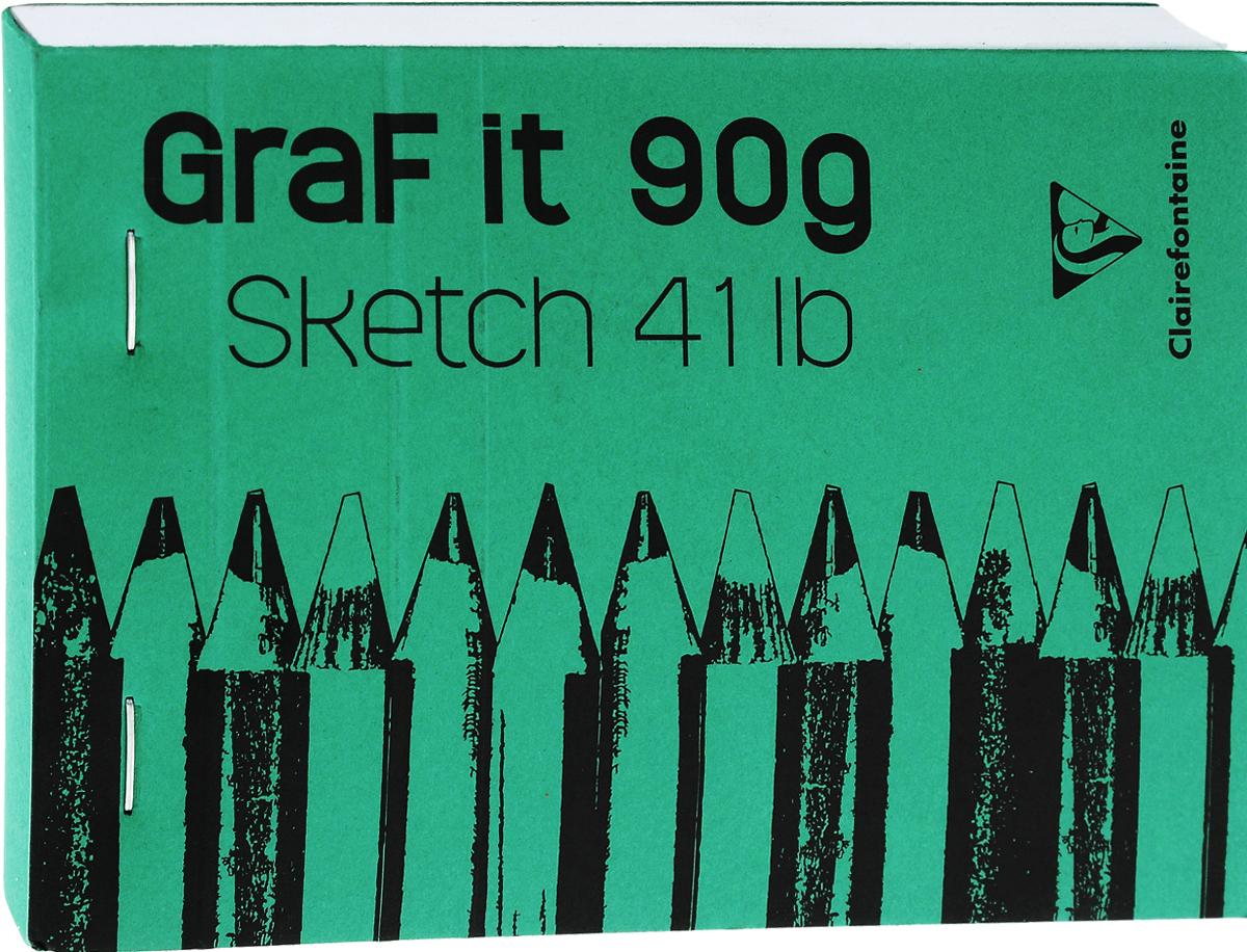 Блокнот Clairefontaine Graft It, на скобах, цвет: зеленый, 80 листов96619_зеленыйБлокнот на скобах Clairefontaine Graft It содержит 80 листов, выполненных из бумаги. Листы не разлинованы. Обложка выполнена из картона. Блокнот идеален для рисования и письма, также подойдет для эскизов и набросков.