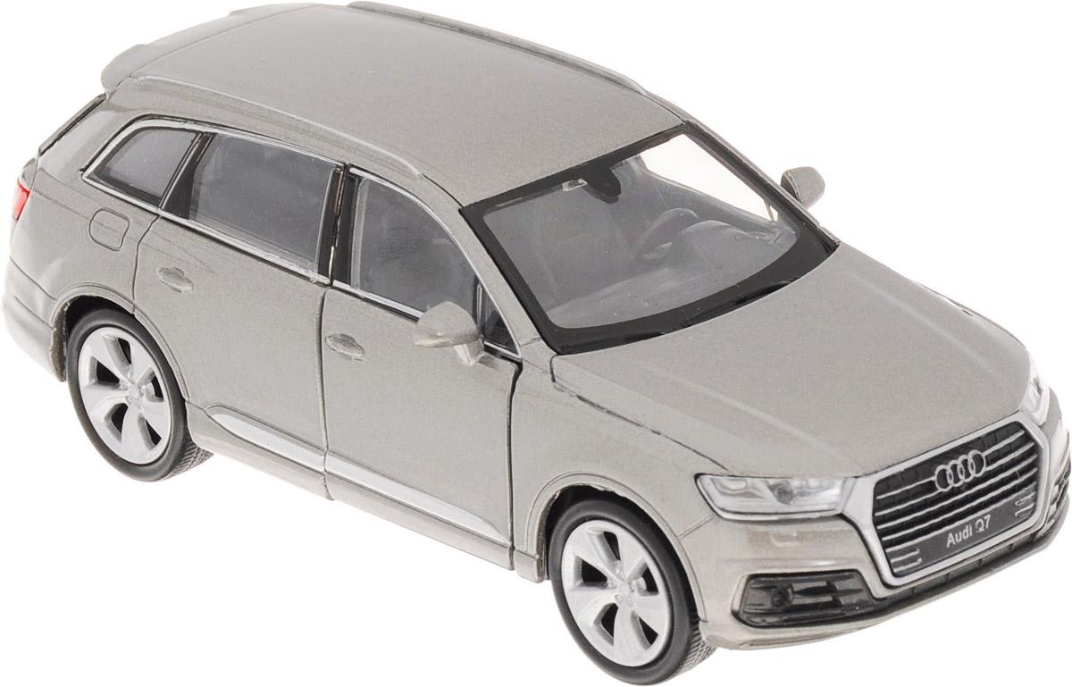 Welly Модель автомобиля Audi Q7 цвет серый43706_серыйМодель автомобиля Welly Audi Q7 - отличный подарок как ребенку, так и взрослому коллекционеру. Благодаря броской внешности, а также великолепной точности, с которой создатели этой модели масштабом 1:34 передали внешний вид настоящего автомобиля, модель станет подлинным украшением любой коллекции авто. Машина будет долго служить своему владельцу благодаря металлическому корпусу с элементами из пластика. Передние дверцы машины открываются, шины обеспечивают отличное сцепление с любой поверхностью пола. Машинка оснащена инерционным механизмом: достаточно немного отвести машинку назад, и затем отпустить, и она быстро поедет вперед. Модель автомобиля Welly Audi Q7 обязательно понравится вашему ребенку и станет достойным экспонатом любой коллекции.