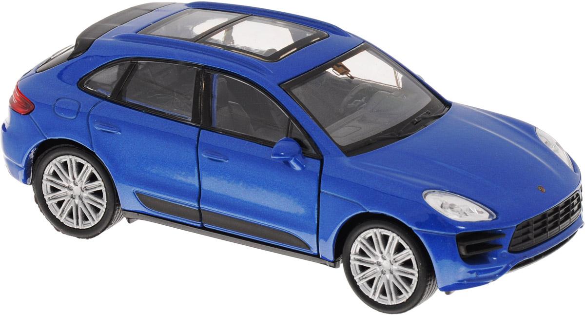 Welly Модель автомобиля Porsche Macan Turbo цвет синий43673_синийМодель автомобиля Welly Porsche Macan Turbo - отличный подарок как ребенку, так и взрослому коллекционеру. Благодаря броской внешности, а также великолепной точности, с которой создатели этой модели масштабом 1:34 передали внешний вид настоящего автомобиля, модель станет подлинным украшением любой коллекции авто. Машина будет долго служить своему владельцу благодаря металлическому корпусу с элементами из пластика. Передние дверцы машины открываются, шины обеспечивают отличное сцепление с любой поверхностью пола. Машинка оснащена инерционным механизмом: достаточно немного отвести машинку назад, и затем отпустить, и она быстро поедет вперед. Модель автомобиля Welly Porsche Macan Turbo обязательно понравится вашему ребенку и станет достойным экспонатом любой коллекции.