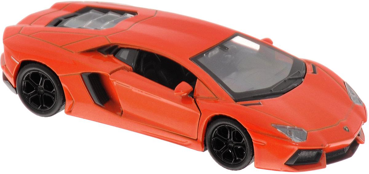 Welly Модель автомобиля Lamborghini Aventador LP700-4 цвет оранжевый43643Модель автомобиля Welly Lamborghini Aventador LP700-4 - отличный подарок как ребенку, так и взрослому коллекционеру. Благодаря броской внешности, а также великолепной точности, с которой создатели этой модели масштабом 1/34 передали внешний вид настоящего автомобиля, машинка станет подлинным украшением любой коллекции авто. Машина будет долго служить своему владельцу благодаря металлическому корпусу с элементами из пластика. Дверцы машины открываются, шины обеспечивают отличное сцепление с любой поверхностью пола. Модель оснащена инерционным механизмом: достаточно немного отвести машинку назад, а затем отпустить - она быстро поедет вперед. Модель автомобиля Welly Lamborghini Aventador LP700-4 обязательно понравится вашему ребенку и станет достойным экспонатом любой коллекции.
