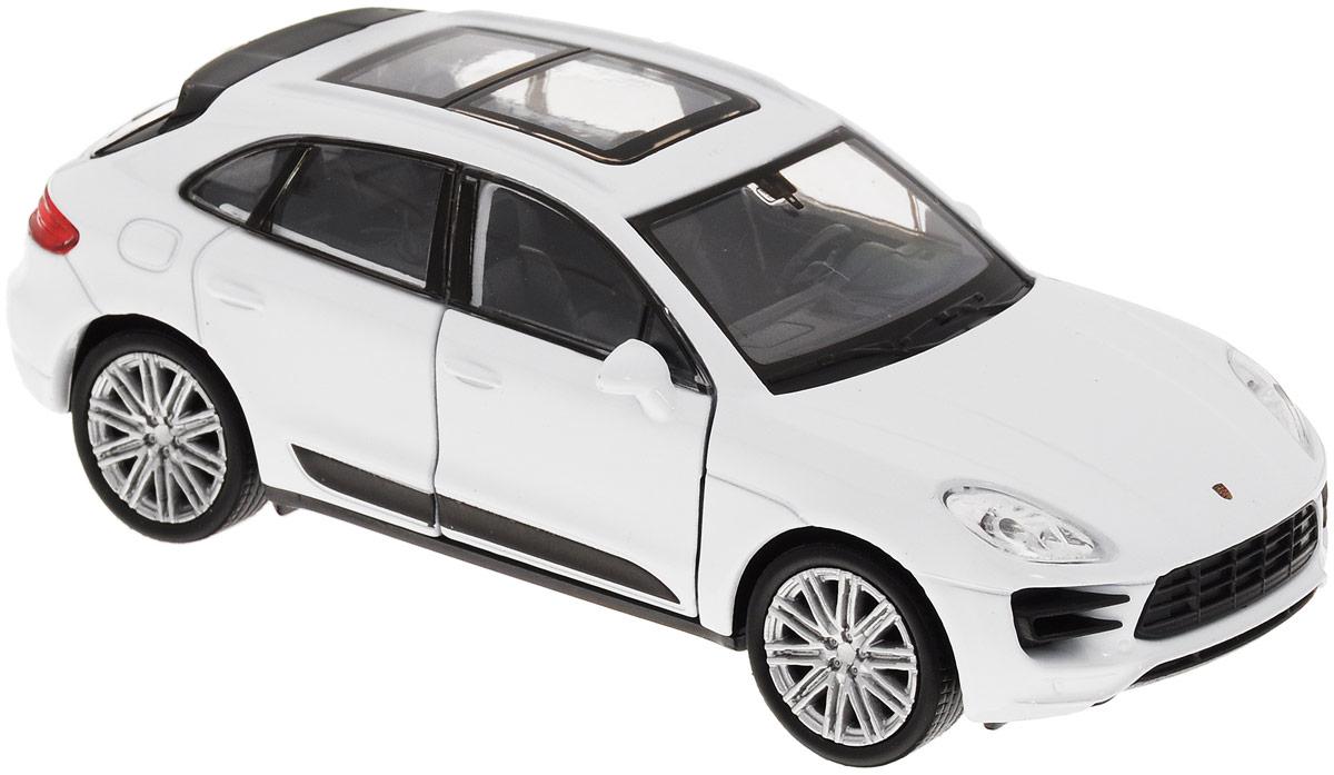 Welly Модель автомобиля Porsche Macan Turbo цвет белый масштаб 1:3443673_белыйМодель автомобиля Welly Porsche Macan Turbo - отличный подарок как ребенку, так и взрослому коллекционеру. Благодаря броской внешности, а также великолепной точности, с которой создатели этой модели масштабом 1/34 передали внешний вид настоящего автомобиля, машинка станет подлинным украшением любой коллекции авто. Машина будет долго служить своему владельцу благодаря металлическому корпусу с элементами из пластика. Передние дверцы машины открываются, шины обеспечивают отличное сцепление с любой поверхностью пола. Модель оснащена инерционным механизмом: достаточно немного отвести машинку назад, а затем отпустить - она быстро поедет вперед. Модель автомобиля Welly Porsche Macan Turbo обязательно понравится вашему ребенку и станет достойным экспонатом любой коллекции.