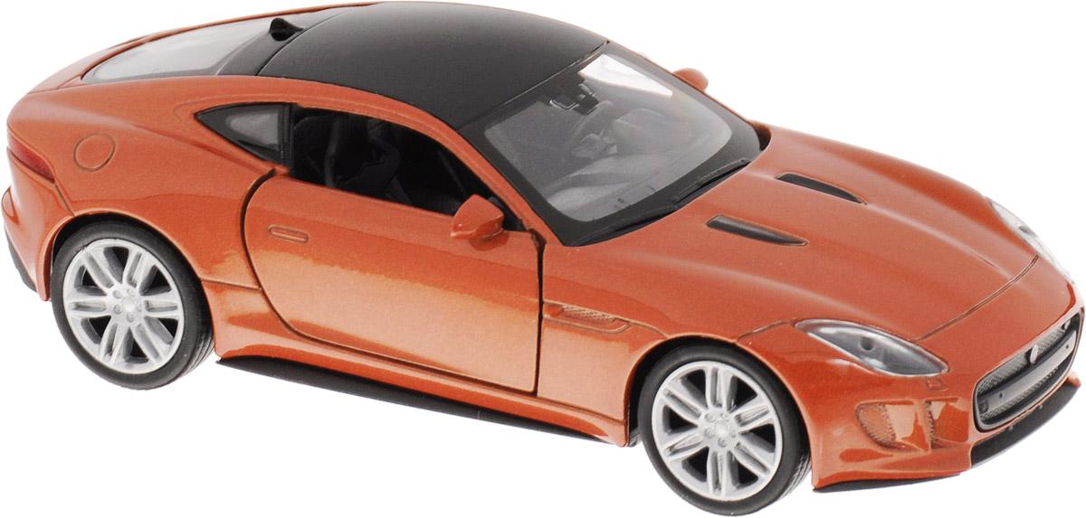 Welly Модель автомобиля Jaguar F-Type Coupe цвет коричневый43699_красно-коричневыйМодель автомобиля Welly Jaguar F-Type Coupe - отличный подарок как ребенку, так и взрослому коллекционеру. Благодаря броской внешности, а также великолепной точности, с которой создатели этой модели масштабом 1:34 передали внешний вид настоящего автомобиля, модель станет подлинным украшением любой коллекции авто. Машина будет долго служить своему владельцу благодаря металлическому корпусу с элементами из пластика. Дверцы машины открываются, резиновые шины обеспечивают отличное сцепление с любой поверхностью пола. Такая модель станет замечательным подарком не только любителю автомобилей, но и человеку, ценящему оригинальность и изысканность, а качество исполнения представит такой подарок в самом лучшем свете.