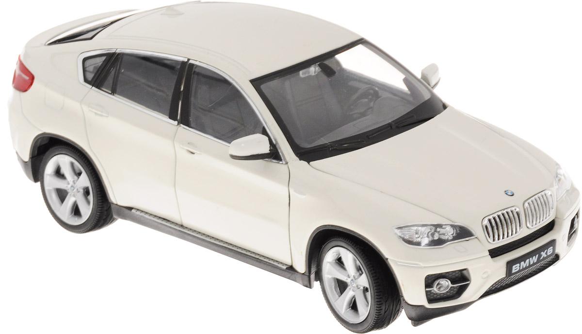 Welly Модель автомобиля BMW X6 цвет белый24004_белыйМодель автомобиля Welly BMW X6 - отличный подарок как ребенку, так и взрослому коллекционеру. Благодаря броской внешности, а также великолепной точности, с которой создатели этой модели масштабом 1:24 передали внешний вид настоящего автомобиля, модель станет подлинным украшением любой коллекции авто. Машина будет долго служить своему владельцу благодаря металлическому корпусу с элементами из пластика. Передние дверцы машины открываются, капот поднимается, передние колеса вращаются вслед за поворотом руля. Шины обеспечивают отличное сцепление с любой поверхностью пола. Модель автомобиля Welly BMW X6 обязательно понравится вашему ребенку и станет достойным экспонатом любой коллекции.
