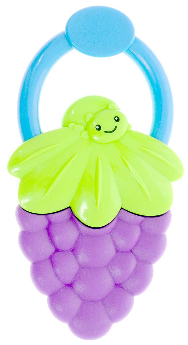 Bondibon Погремушка Ягодка цвет фиолетовый зеленыйВВ1483_фиолетовый, зеленыйПогремушка с прорезывателем Bondibon Ягодка сможет развлечь ребенка дома, на прогулке, в поездке или гостях. Она изготовлена из прочного пластика и выполнена в виде яркой ягодки с небольшим удобным кольцом-держателем. Соприкасающаяся с деснами ребенка поверхность прорезывателя достаточно мягкая, чтобы не поранить десны при надавливании, и в меру жесткая для того, чтобы ее пожевать или погрызть во время роста молочных зубов. Погремушка специально разработана с учетом особенностей строения ручек малыша и не будет скользить. Яркие цвета и звуки, которые издает игрушка, развивают слуховое и зрительное восприятие, пространственное мышление и тактильные ощущения.