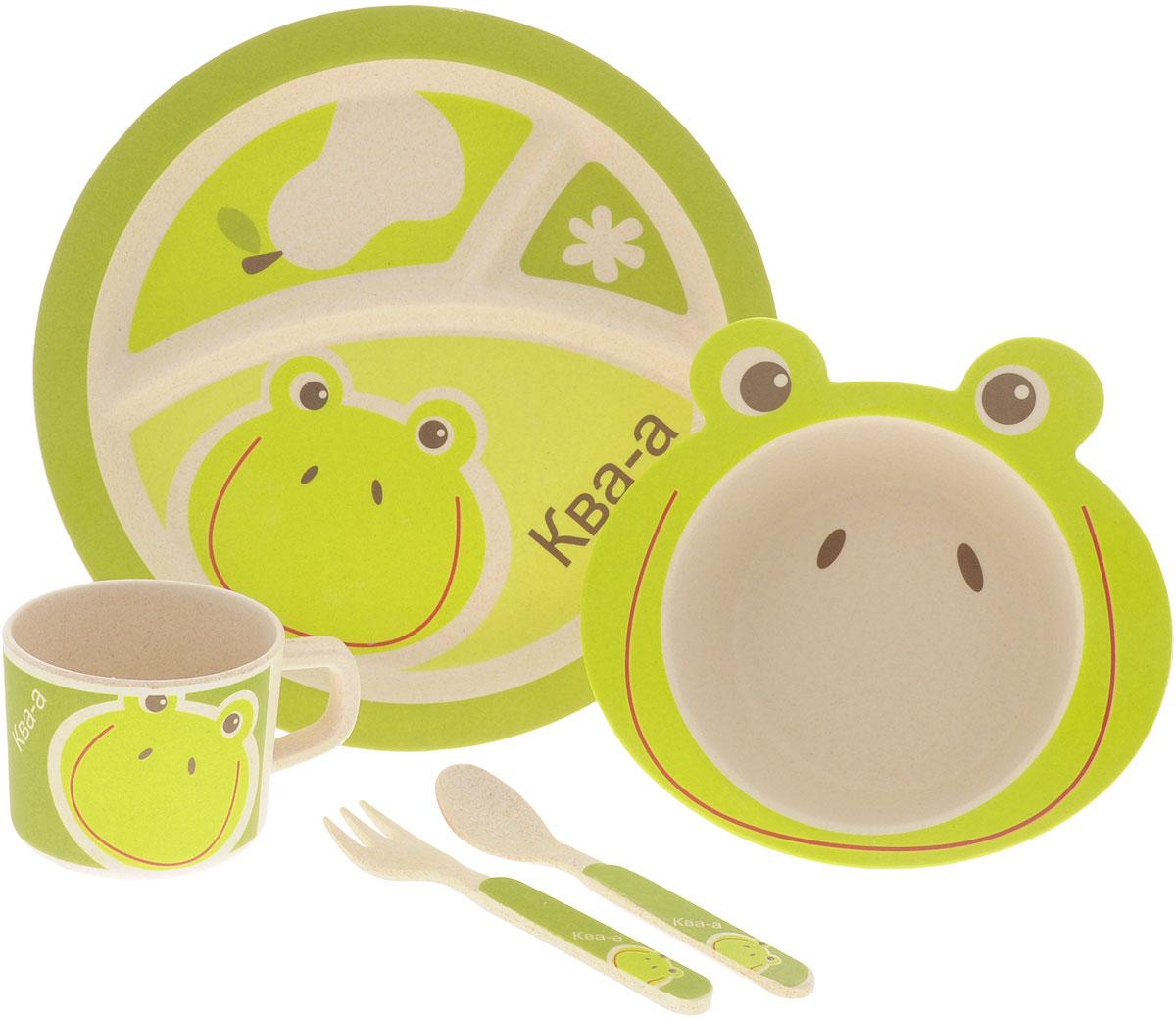 EcoWoo Набор детской посуды Лягушка 5 предметов