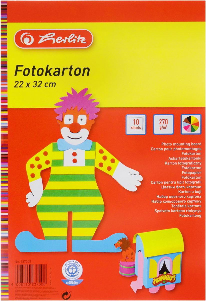 Herlitz Набор цветного картона 10 листов0237008Набор цветного двустороннего картона Herlitz позволит создавать всевозможные аппликации и поделки. В набор входит картон черного, коричневого, темно-зеленого, светло-зеленого, синего, светло-розового, ярко-розового, оранжевого, желтого и красного цветов. Создание поделок из цветного картона позволяет ребенку развивать творческие способности, кроме того, это увлекательный досуг.