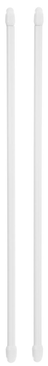Штанга однорядная Эскар, металлическая, телескопическая, цвет: белый, длина 40-70 см, 2 шт9200800040Витражная штанга Эскар - это не только аксессуар для штор, но и элемент декора. Изделие выполнено из металла. Держатели штанг вкручиваются в раму в предварительно рассверленное отверстие. В комплект входят: 2 штанги, 4 крючка для крепления. Оригинальная и стильная штанга дополнит интерьер любой комнаты. Длина карниза: 40-70 см.