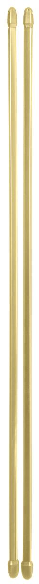 Штанга однорядная Эскар, металлическая, телескопическая, цвет: латунь, длина 60-90 см, 2 шт9280000060Витражная штанга Эскар - это не только аксессуар для штор, но и элемент декора. Изделие выполнено из металла. Держатели штанг вкручиваются в раму в предварительно рассверленное отверстие. В комплект входят: 2 штанги, 4 крючка для крепления. Оригинальная и стильная штанга дополнит интерьер любой комнаты. Длина карниза: 60-90 см.