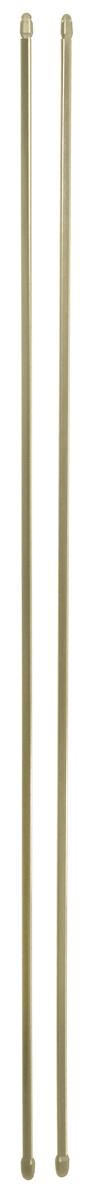 Штанга однорядная Эскар, металлическая, телескопическая, цвет: латунь, длина 100-160 см, 2 шт9280000100Витражная штанга Эскар - это не только аксессуар для штор, но и элемент декора. Изделие выполнено из металла. Держатели штанг вкручиваются в раму в предварительно рассверленное отверстие. В комплект входят: 2 штанги, 4 крючка для крепления. Оригинальная и стильная штанга дополнит интерьер любой комнаты. Длина карниза: 100-160 см.
