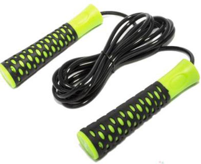 Скакалка Starfit RP-103, цвет: зеленый, черный, длина 3 мУТ-00007302Скакалка Star Fit RP-103 предназначена для укрепления мышц рук и ног, а также для общей тренировки. Скакалку приятно держать в руках. Трос выполнен из прочного ПВХ. Модель отличается своей цепкостью с ладонью за счет неоднородности поверхности рукояти. Для более быстрого и плавного вращения троса изделие снабжено подшипниками.