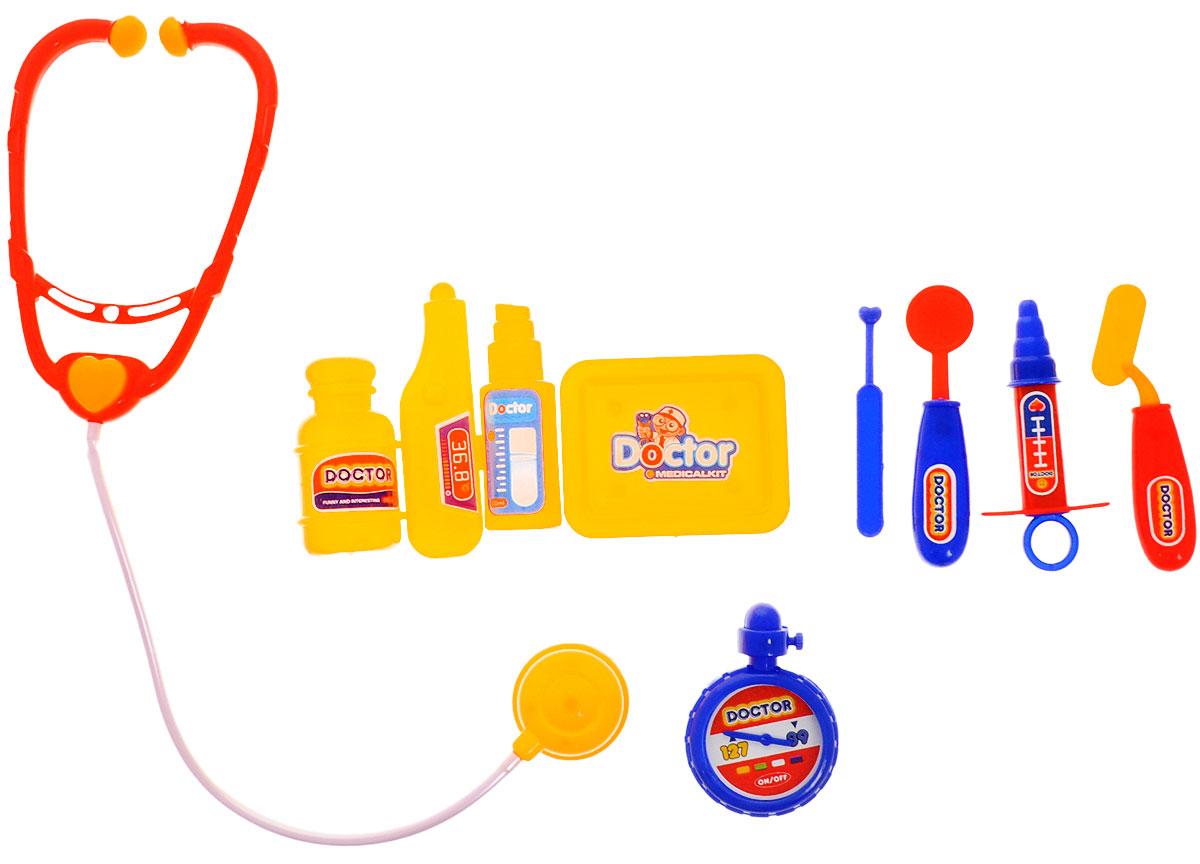 Plastic Toy Игровой набор ДокторB894899Игровой набор Plastic Toy Доктор станет отличным подарком для маленького врачевателя. В наборе есть все, что может пригодиться юному врачу: стетоскоп, секундомер, ингалятор, баночка с лекарством, шприц, поднос, зеркало, 2 шпателя, термометр. Ребенок сможет лечить свои игрушки, придумывая различные сюжеты. К тому же, придумывать диагнозы и выписывать пилюльки очень увлекательно. Игровой набор нетоксичен и изготовлен из качественного пластика.