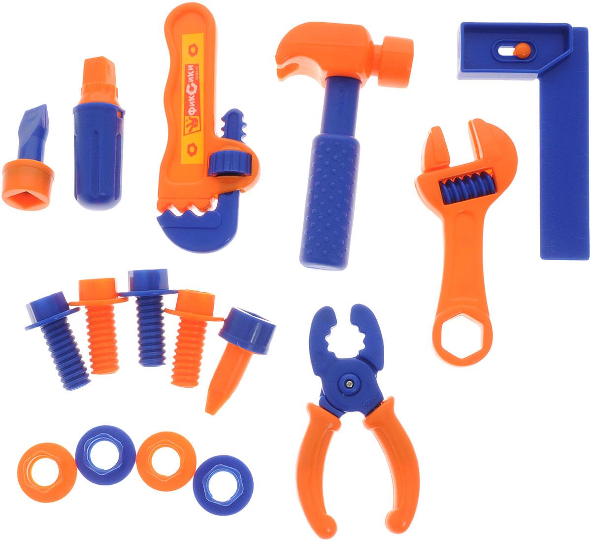 Играем вместе Набор инструментов Фиксики 16 предметовMT9096JTPNC-R1Набор инструментов Играем вместе Фиксики состоит из 16 предметов и станет прекрасным подарком для юного мастера. С помощью такого набора ребенок научится забивать гвозди, закручивать гайки и многое другое. Все инструменты отлично детализированы и выглядят совсем как настоящие. Набор инструментов поможет с ранних лет приучить ребенка к работе с инструментом и поспособствует воспитанию в нем настоящего мужчины в будущем. УВАЖАЕМЫЕ КЛИЕНТЫ! Товар поставляется в цветовом ассортименте. Некоторые детали могут отличаться по цвету от товара, изображенного на фотографии. Поставка осуществляется в зависимости от наличия на складе.