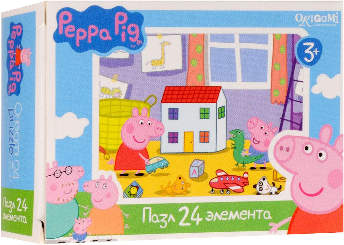 Оригами Пазл для малышей Peppa Pig Детская комнатаAST000000000181836_детская комнатаПазл для малышей Оригами Peppa Pig. Детская комната придется по душе всем юным поклонникам свинки Пеппы. Собрав этот пазл, включающий в себя 24 элемента, вы получите картинку с изображением сюжета из популярного мультфильма. Пазл - великолепная игра для семейного досуга. Сегодня собирание пазлов стало особенно популярным, главным образом, благодаря своей многообразной тематике, способной удовлетворить самый взыскательный вкус. А для детей это не только интересно, но и полезно. Собирание пазла развивает мелкую моторику у ребенка, тренирует наблюдательность, логическое мышление, знакомит с окружающим миром, с цветом и разнообразными формами.