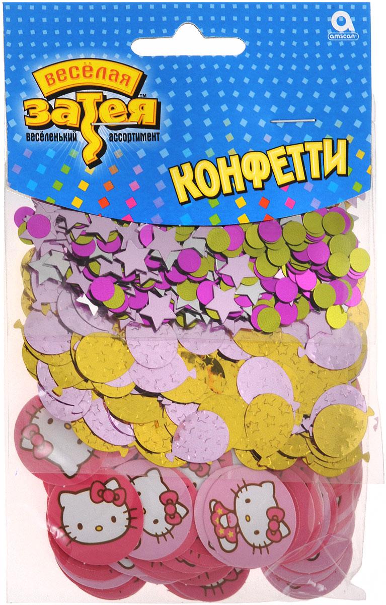 Веселая затея Конфетти Hello Kitty 3 вида 34 г1501-1511Конфетти Веселая затея Hello Kitty представлено в трех дизайнах: звездочки и кружочки в золотистых и розовых тонах, воздушные шарики золотистого и розового цветов и кружочки розового цвета с изображением Hello Kitty. Яркое конфетти - неотъемлемый атрибут праздников, в основном, балов, карнавалов, триумфальных шествий, а также дней рождений и свадебных торжеств. Конфетти осыпают друг друга участники празднеств или его сбрасывают сверху. Конфетти, рассыпанное на столе, является необычной и привлекательной формой украшения праздничного застолья. Еще один оригинальный способ порадовать друзей и близких - насыпьте конфетти в конверт с открыткой - это будет неожиданный сюрприз! Также конфетти - прекрасный материал для рукоделия.