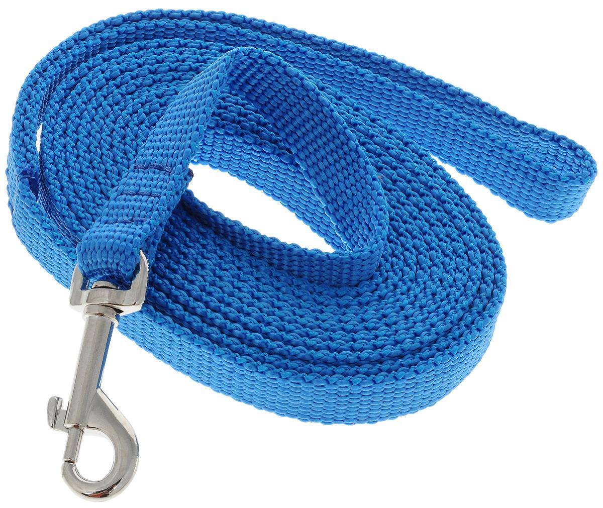 Поводок капроновый для собак Аркон, цвет: голубой, ширина 1,5 см, длина 3 мпк3м15_голубойПоводок для собак Аркон изготовлен из высококачественного цветного капрона и снабжен металлическим карабином. Изделие отличается не только исключительной надежностью и удобством, но и привлекательным современным дизайном. Поводок - необходимый аксессуар для собаки. Ведь в опасных ситуациях именно он способен спасти жизнь вашему любимому питомцу. Иногда нужно ограничивать свободу своего четвероногого друга, чтобы защитить его или себя от неприятностей на прогулке. Длина поводка: 3 м. Ширина поводка: 1,5 см.