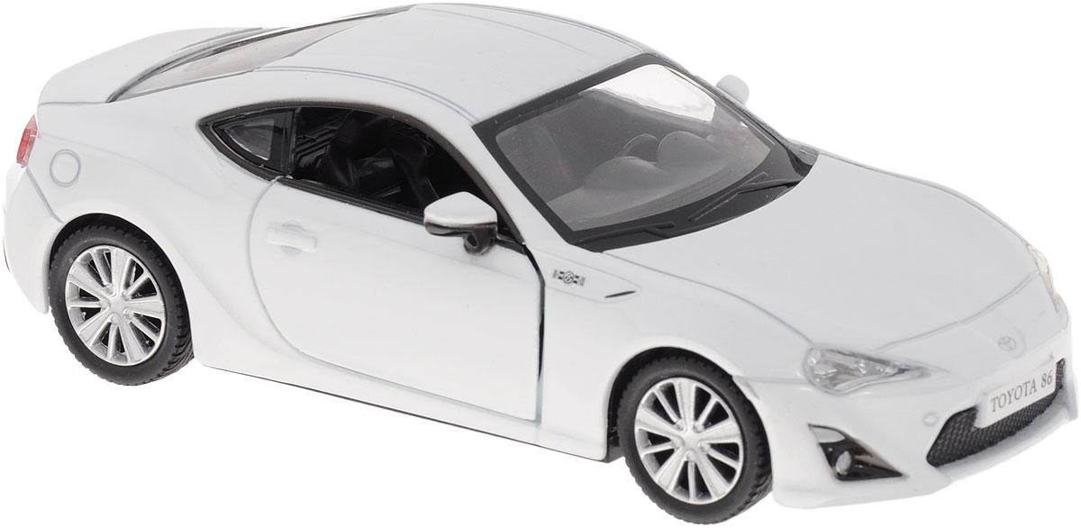 Рыжий Кот Модель автомобиля Toyota 86 цвет белыйИ-1216_белыйМодель автомобиля Toyota 86 - миниатюрная копия настоящего автомобиля в масштабе 1/32. Стильная модель автомобиля привлечет к себе внимание не только детей, но и взрослых. Масштабная модель в точности воспроизводит оригинальное авто, включая мельчайшие детали салона. Двери машины открываются. Модель выполнена из металла с пластиковыми элементами. В оформлении использованы пластиковые элементы. Авто обладает функцией инерционного движения. Такая модель станет отличным подарком не только любителю автомобилей, но и человеку, ценящему оригинальность и изысканность, а качество исполнения представит такой подарок в самом лучшем свете.