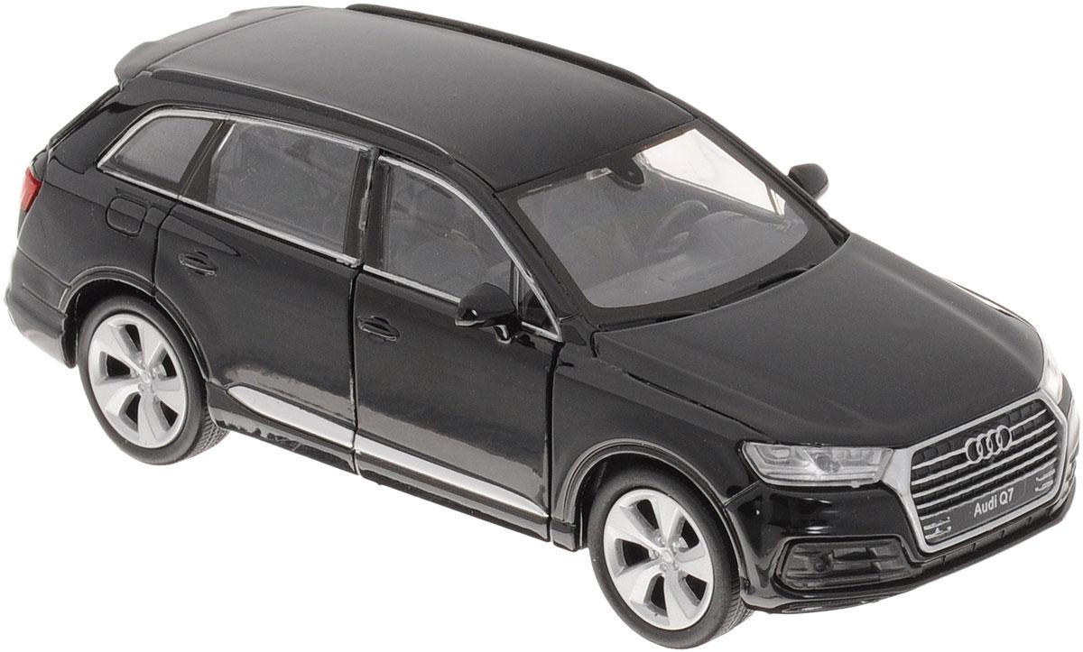 Welly Модель автомобиля Audi Q7 цвет черный43706Модель автомобиля Welly Audi Q7 - отличный подарок как ребенку, так и взрослому коллекционеру. Благодаря броской внешности, а также великолепной точности, с которой создатели этой модели масштабом 1:34 передали внешний вид настоящего автомобиля, модель станет подлинным украшением любой коллекции авто. Машина будет долго служить своему владельцу благодаря металлическому корпусу с элементами из пластика. Передние дверцы машины открываются, шины обеспечивают отличное сцепление с любой поверхностью пола. Машинка оснащена инерционным механизмом. Модель автомобиля Welly Audi Q7 обязательно понравится вашему ребенку и станет достойным экспонатом любой коллекции.
