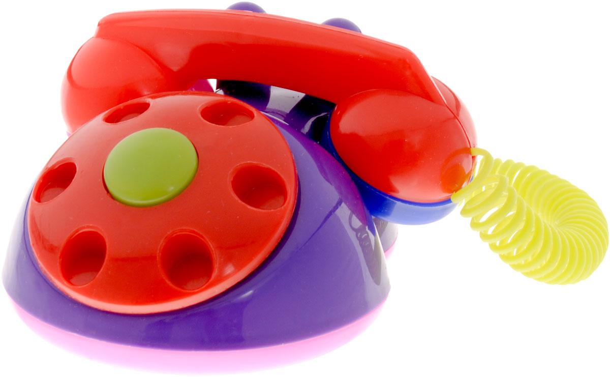 Аэлита Детский телефон цвет фиолетовый красный