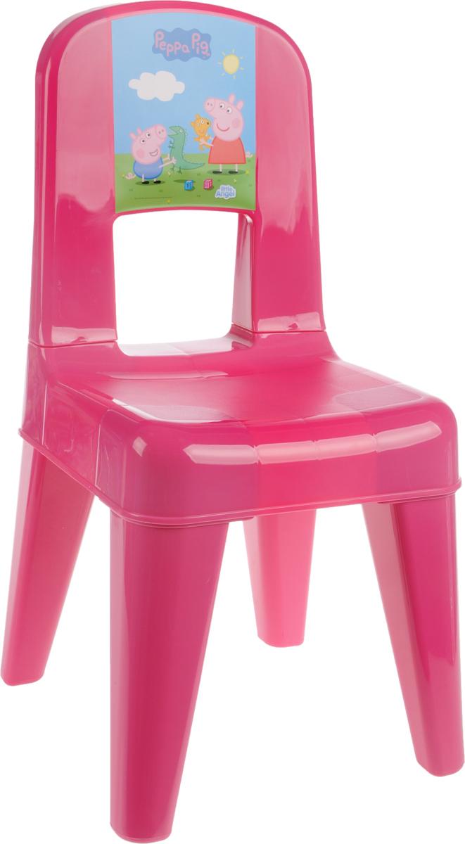 Табурет детский Little Angel Свинка Пеппа. Я расту, со спинкой, цвет: розовый, голубой, зеленый, 35 х 30 х 58,2 смLA4512РРРЗТабурет Little Angel Свинка Пеппа. Я расту разработан специально для детей. Изготовлен из безопасного нетоксичного полипропилена, оснащен спинкой. Закругленные углы сиденья и ножек обеспечивают безопасность малыша. Поверхность сиденья нескользящая, благодаря чему игры и обучение будут более комфортными. На ножках имеются противоскользящие резиновые накладки. Рекомендован для детей от 2 до 6 лет.