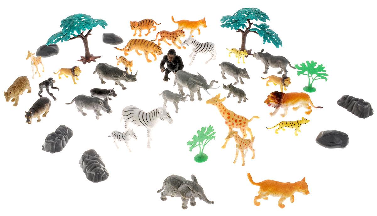 Boley Набор фигурок Сафари 40 предметов75230Набор фигурок Boley Сафари - замечательный подарок к любому празднику как для мальчика, так и для девочки! С этим набором ребенок сможет в увлекательной сюжетно-ролевой игре познакомиться с такими тропическими животными, как лев, тигр, слон, зебра, горилла, слон, носорог, леопард и другими. Всего в наборе 40 предметов. Все предметы выполнены из высококачественных, экологически чистых материалов, совершенно безопасных для ребенка. Набор выглядит ярко и очень эффектно.