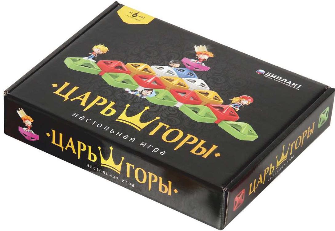 Биплант Обучающая игра Царь горы10040Игра для детей от 6 лет … и на всю жизнь. В игре могут участвовать от 2 до 6 игроков. В составе всего 36 фишек, разделенных на 6 цветов. Нужно переставлять фишки друг на друга так, чтобы фишка с твоим цветом оказалась выше остальных фишек соперника. Выигрывает тот игрок или команда, чья фишка оказалась выше всех. Игра логическая, азартная, увлекательный и захватывающий поединок, от которого не оторвать ни взрослых, ни детей.