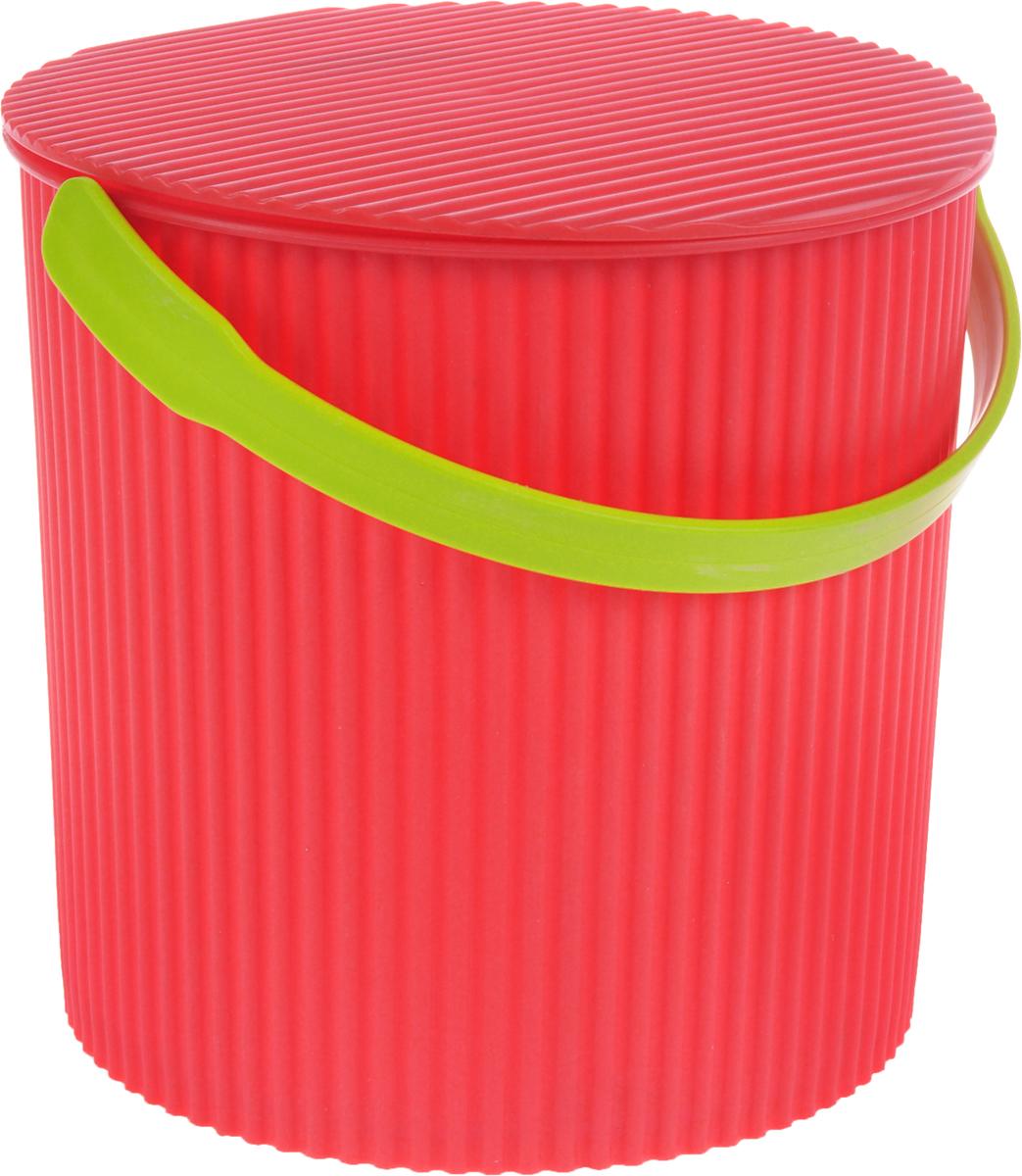 Ведро-стул Изумруд Bambini, цвет: коралловый, бежевый, 10 л102_коралловый, бежевая ручкаВедро-стул Изумруд Bambini выполнено из прочного пластика. Изделие может быть использовано, как стул где-нибудь на природе, как ведро для дома, для рыбалки, для похода. Имеет множество ребер жесткости, которые обеспечивают ему дополнительную прочность. Интересный дизайн впишется в любой интерьер дома, офиса, дачи и сделает его более оригинальным. Диаметр (по верхнему краю): 26 см. Высота: 26 см. Уважаемые клиенты! Обращаем ваше внимание на цвет ручек изделия: товар поставляется в цветовом ассортименте. Поставка осуществляется в зависимости от наличия на складе.