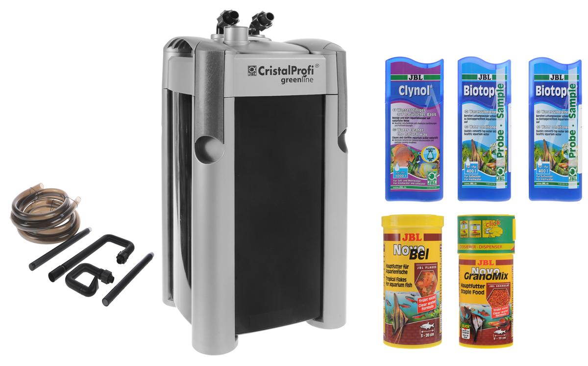 "Фильтр для аквариумов JBL ""CristalProfi e1501 Greenline"", внешний, 1400 л/ч + ПОДАРОК: 2 банки корма, 3 средства для воды JBL60212+подарок"