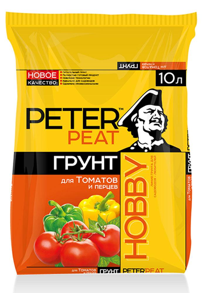 Грунт Peter Peat Для томатов и перцев, 10 лХ-05-10Питательный грунт для огорода. Для выращивания томатов, перцев, баклажанов и их подкормки в период роста и плодоношения. Улучшает всхожесть семян и приживаемость рассады.