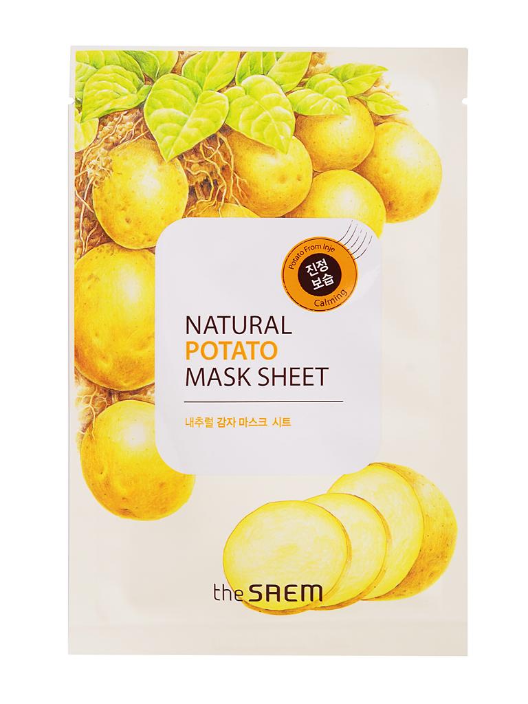 The Saem Маска тканевая с экстрактом картофеля Natural Potato Mask Sheet, 21 млСМ2112Тканевая маска пропитана концентрированной эссенцией, отличающейся высоким содержанием активных ингредиентов и обогащенной экстрактом картофеля. Экстракт картофеля эффективно успокаивает и питает огрубевшую кожу, активно увлажняет, очищает, прекрасно устраняет следы усталости, отёчность. Благодаря выраженному противовоспалительному свойству экстракта картофеля, маска идеально подходит для ухода за чувствительной и поврежденной кожей, способствует устранению отеков и припухлостей лица.