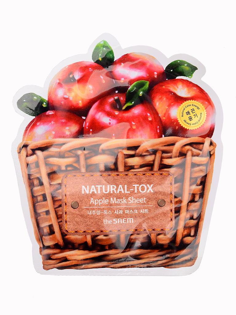 The Saem Маска тканевая яблочная Natural-tox Apple Mask Sheet, 20 грСМ2124Тканевая маска содержит экстракт яблока (10000 ppm). Улучшает обменные процессы в коже, осветляет и очищает кожу, делая лицо свежим и привлекательным. Способствует регенерации и омоложению, защищает кожу от вредных факторов воздействия внешней среды, оказывает отшелушивающее и отбеливающее действие. Благодаря фруктовым аминокислотам и витамину С тонизирует, восстанавливает упругость и эластичность. Под влиянием яблочного сока кожа восстанавливает естественный цвет, становится гладкой и сияющей.