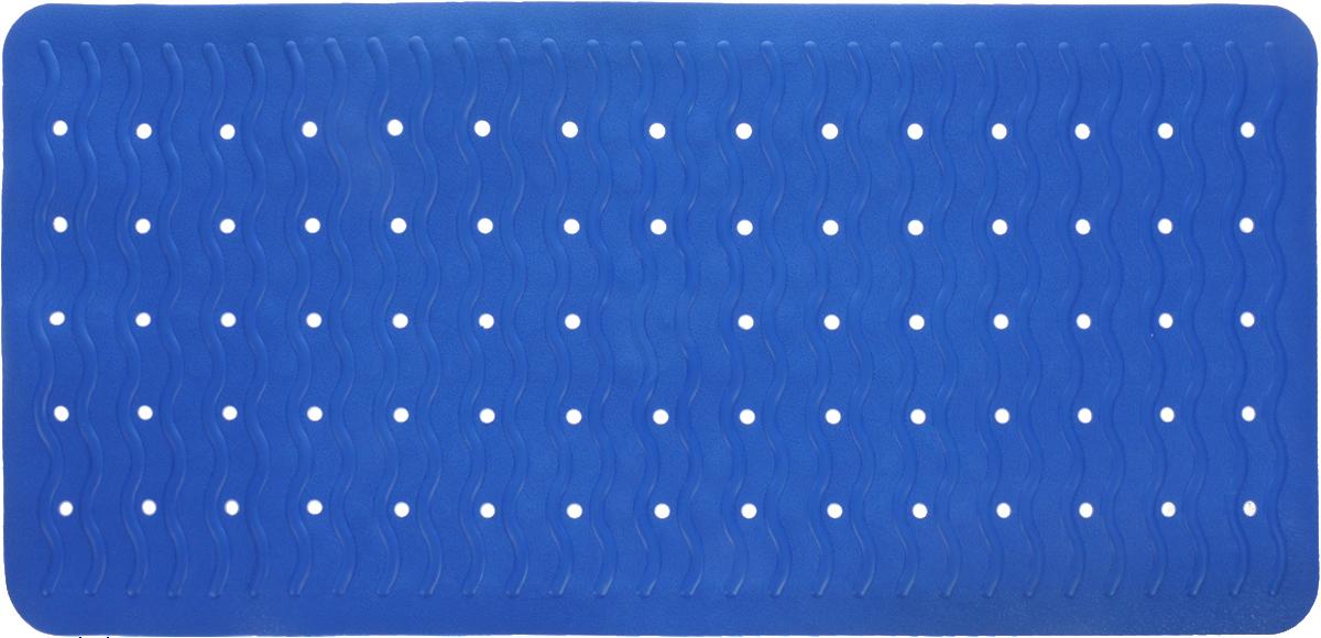Коврик для ванной Ridder Playa, противоскользящий, цвет: синий, 38 х 80 см68303Коврик для ванной Ridder Playa, изготовленный из каучука с защитой от плесени и грибка, создает комфортное антискользящее покрытие в ванне. Коврик долго прослужит в вашем доме, добавляя тепло и уют, а также внесет неповторимый колорит в интерьер ванной комнаты.