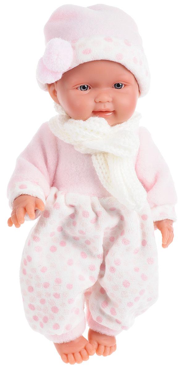 Llorens Пупс Бэбита РозаL 26256Пупс LIorens Бэбита Роза порадует вашу малышку и доставит ей много удовольствия от часов, посвященных игре с ней. Эта кукла - реалистичная копия настоящего младенца, ее туловище в складочках. Малыш одет в бело-розовый комбинезон и шарфик, на голове розовая шапочка с помпонами. У куклы очаровательные серые глазки и милое личико. Ручки, ножки и голова подвижны. Игра с куклой разовьет в вашей малышке фантазию и любознательность, поможет овладеть навыками общения и научит ролевым играм, воспитает чувство ответственности и заботы. Порадуйте ее таким замечательным подарком!