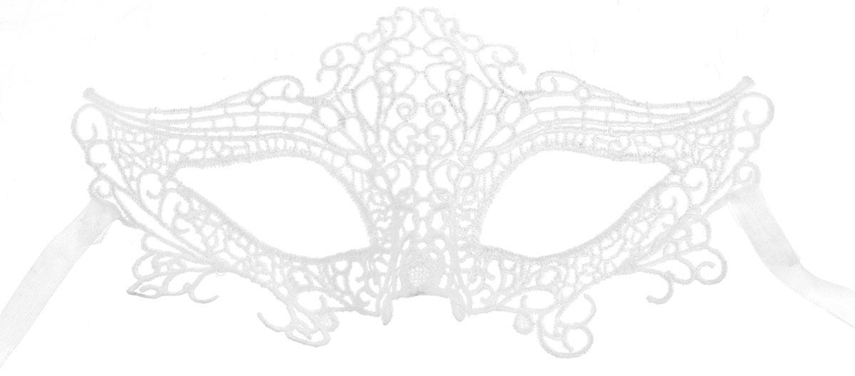 Partymania Карнавальная маска Кружево цвет белый