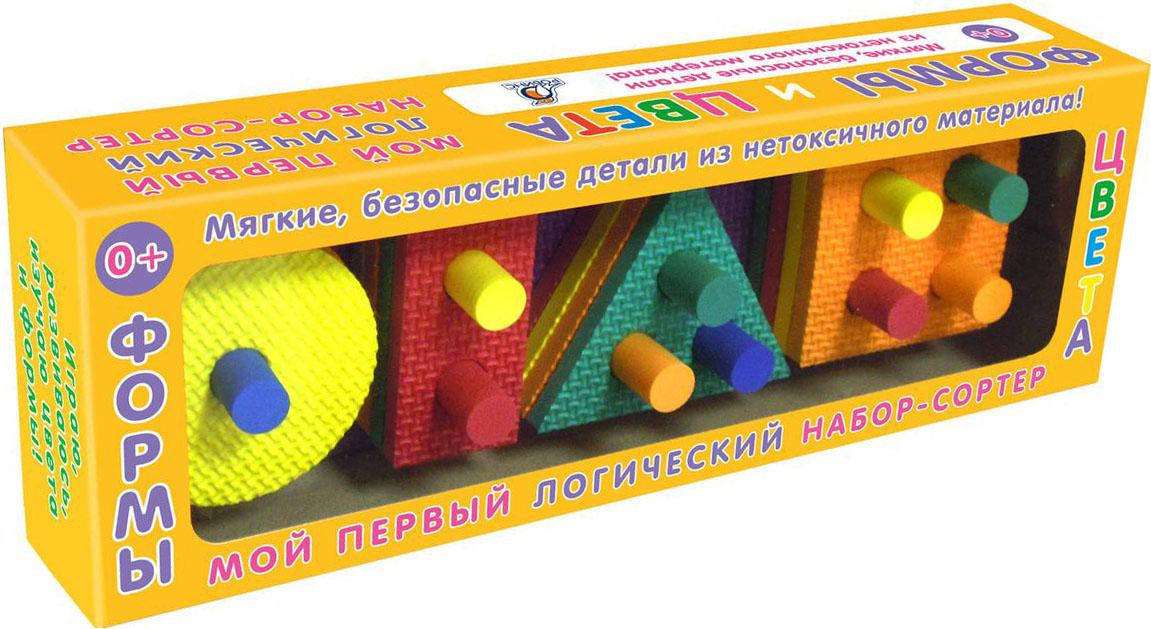 Робинс Обучающая игра Формы и цвета4607058376697Набор состоит из деталей разной формы и цветов.