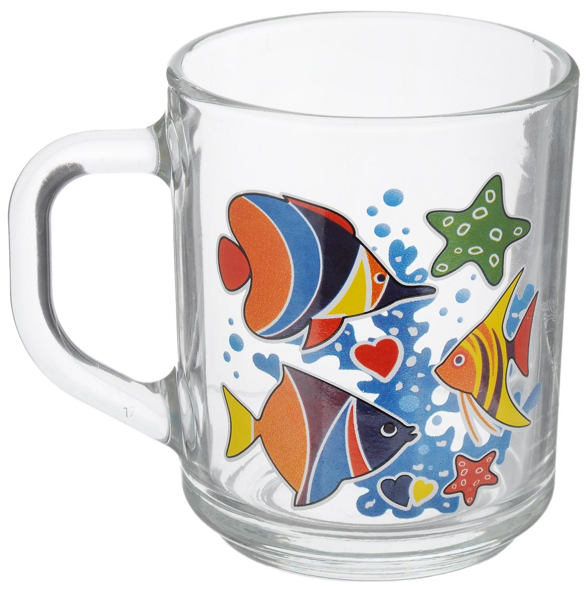 Кружка OSZ Green Tea. Яркие рыбки, 200 мл07с1335_прозрачный, синий, оранжевыйКружка OSZ Green Tea. Яркие рыбки изготовлена из бесцветного стекла и украшена ярким рисунком. Идеально подходит для сервировки стола. Кружка не только украсит ваш кухонный стол, но и подчеркнет прекрасный вкус хозяйки. Диаметр кружки (по верхнему краю): 7 см. Высота кружки: 9 см.