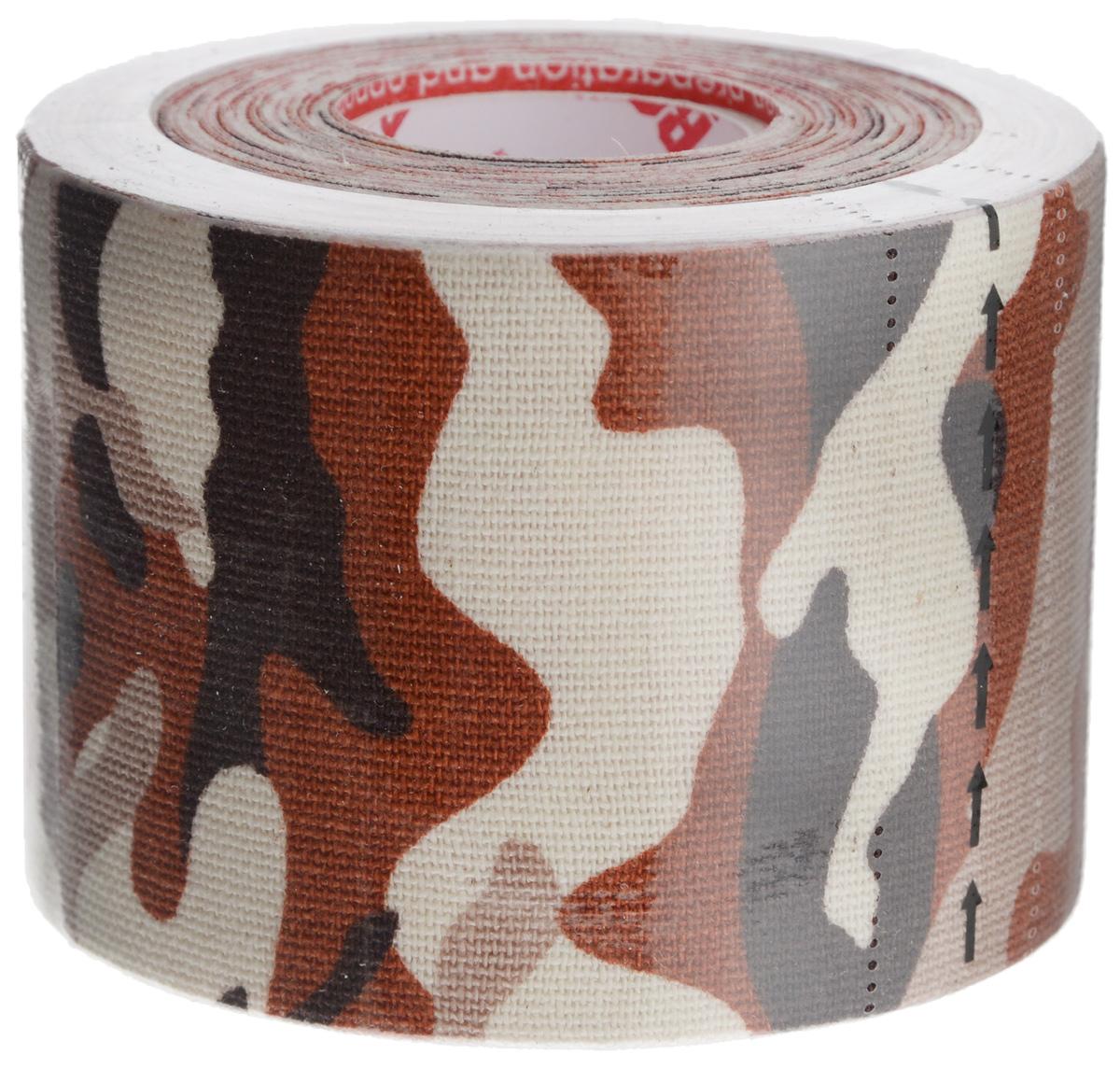 Rocktape Кинезиотейп Design, цвет: камуфляж коричневый, 5см х 5м