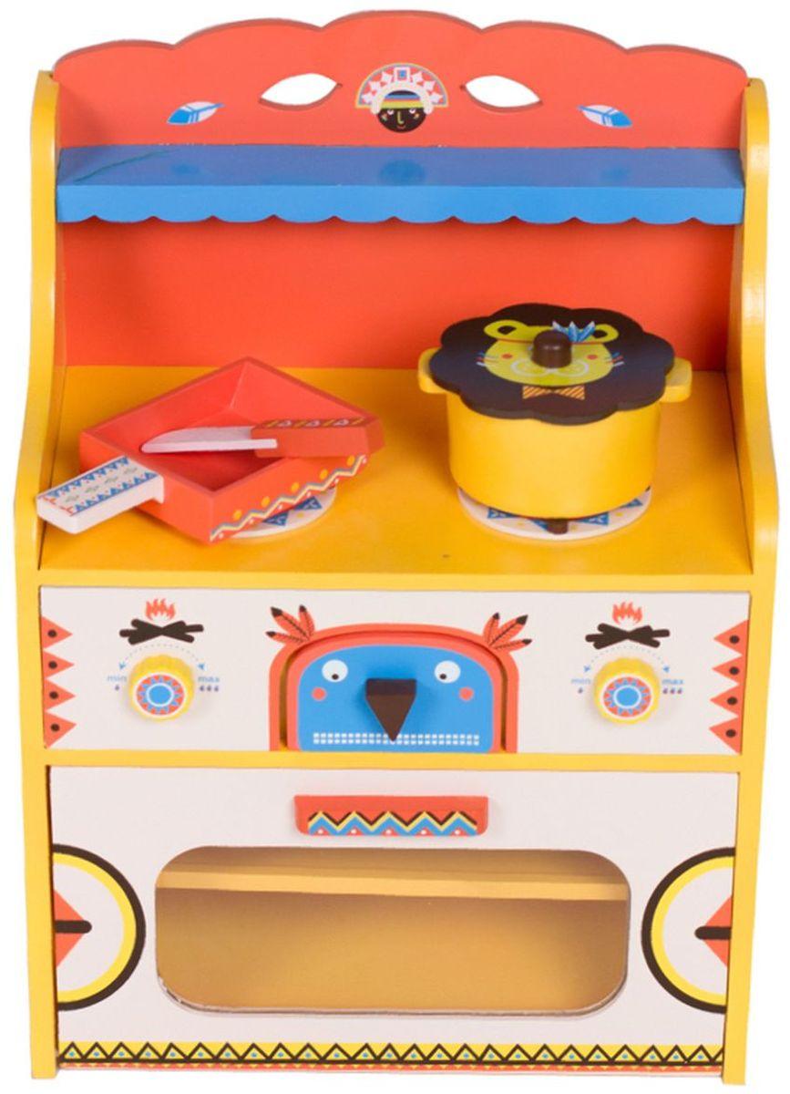 Kids4Kids Игрушечная кухня Модный поваренок#1115Детская кухня - любимое место для сюжетных игр маленьких поварят. Множество игровых сюжетов, связанных с кулинарией, не дадут заскучать маленькому ребенку. В комплект входит кухонная утварь: кастрюля в виде львенка, сковорода, нож-лопатка. Отдельное место для хранения кухонных принадлежностей поможет приучить ребенка к чистоте и порядку с раннего детства. Ручки регулирования огня со звуковыми эффектами. Размеры (ВхШхГ), см: 48х26х2Игрушка отлично впишется в интерьер детской станет любимым развлечением детей. Такая насыщенная игра превосходно развивает воображение и логику, положительно сказывается на координации движений и зрительной координации, тренирует память и внимание.Игрушка изготовлена из высококачественного экологически чистого дерева, что очень важно при выборе детских товаров. Необычный дизайн подойдет и мальчикам, и девочкам.