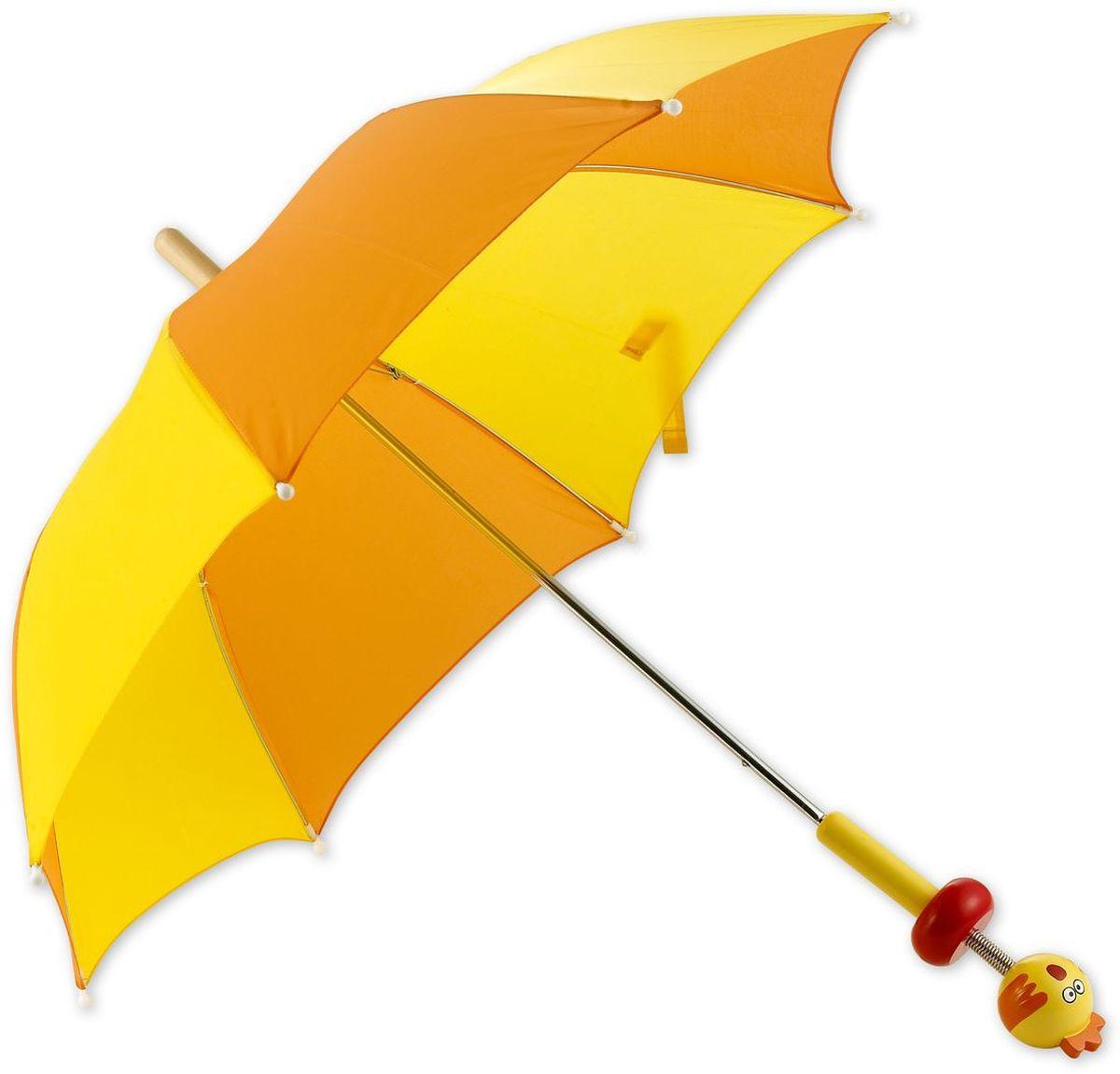 Classic World Зонт с ручкой Цыпленок2370Современный зонтик с жесткими спицами, которые препятствуют его деформации под действием ветра. Защищает от солнечных лучей и осадков. Благодаря оригинальному и яркому дизайну ваш малыш всегда будет выглядеть стильно. Удобная рукоятка выполнена в виде цыпленка. Размеры зонтика идеально подходят для детей от 2 лет.