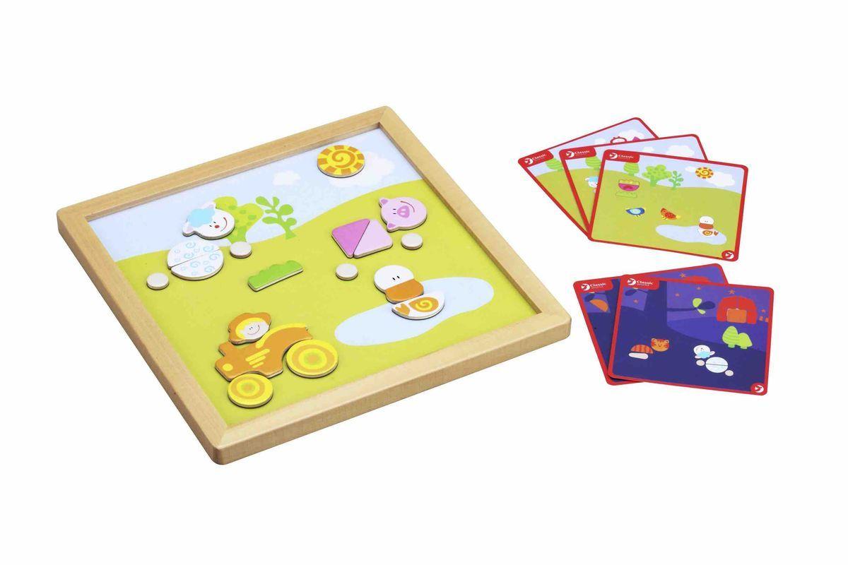 Classic World Развивающая магнитная игра День и ночь3534Играй и развивайся! Занимательная магнитная игра откроет для ребёнка удивительный окружающий мир и познакомит с такими разными частями суток, как день и ночь. В игре разнообразные элементы-пазлы для создания животных, людей, деревьев и многого другого. Уникальность игры - возможность менять игровые поля - день и ночь. Два игровых поля - день и ночь, на которых выстраивается история о милых персонажах. Ребёнок сможет придумывать интересные истории о персонажах игры, что способствует развитию творческого мышления ребёнка. Игра развивает логику, мышление и речь. Игрушка выполнена из высококачественных материалов, а значит вы будете уверены в безопасности Вашего ребёнка.